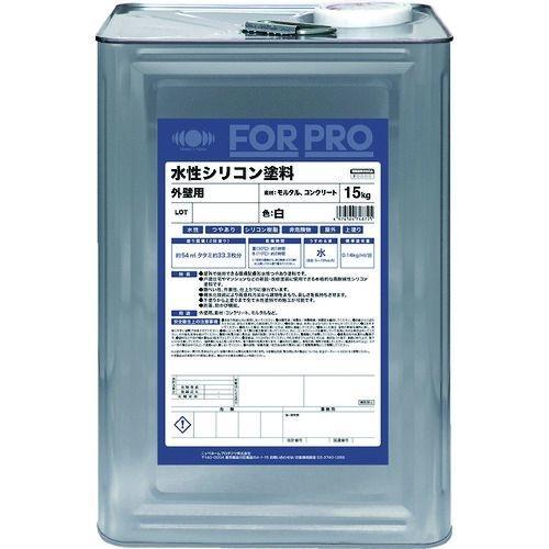 トラスコ中山 ニッぺ FORPRO水性シリコン塗料 15kg 白 tr-1588337
