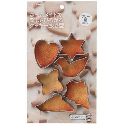 貝印 クッキー型 クッキー抜き型 6個セット ツリー 星 kai House SELECT D-L6・・・