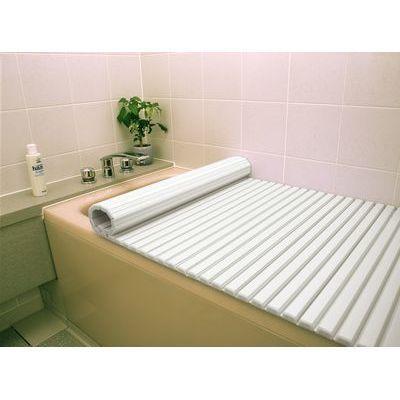 東プレ 風呂ふた シャッター式 (80×140cm用) ホワイト W14 (巻きフタ) 4904892012386