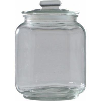 不二貿易 ガラスキャニスター ナッツ S K-1304095-1【6個セット】 FJ-71503