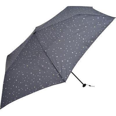 Nifty Colors 折りたたみ傘 晴雨兼用 スター カーボン 軽量 ブラック 6本骨 5・・・