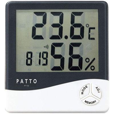【60個セット】PT-02 PATTO(パット) スクエア温湿度計  4972940811939