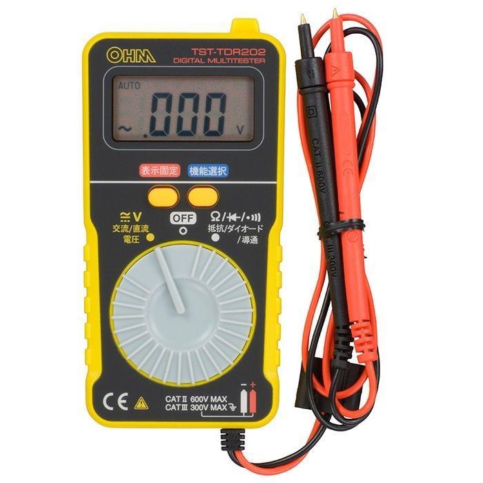 オーム電機 デジタルテスター(薄型カード型タイプ) TST-TDR202