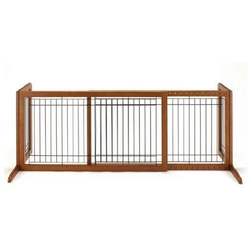 リッチェル ペットゲート 犬用 ペット用木製おくだけゲートワイド ブラウン(B・・・