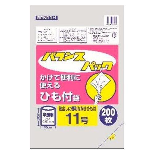 オルディ バランスパック ひも付規格袋 半透明 11号 200枚入 BPN11H (ポリ袋)・・・