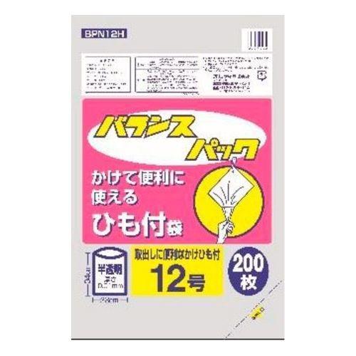 オルディ バランスパック ひも付規格袋 半透明 12号 200枚入 BPN12H (ポリ袋)・・・