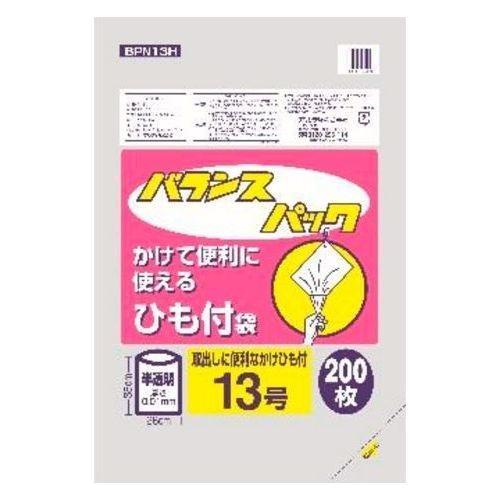 オルディ バランスパック ひも付規格袋 半透明 13号 200枚入 BPN13H (ポリ袋)・・・