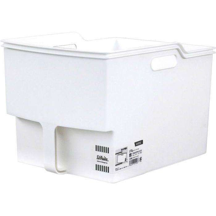 不動技研 吊り戸棚 収納 ボックス 白 ワイド F40001 (吊り戸棚ストッカー) 24・・・