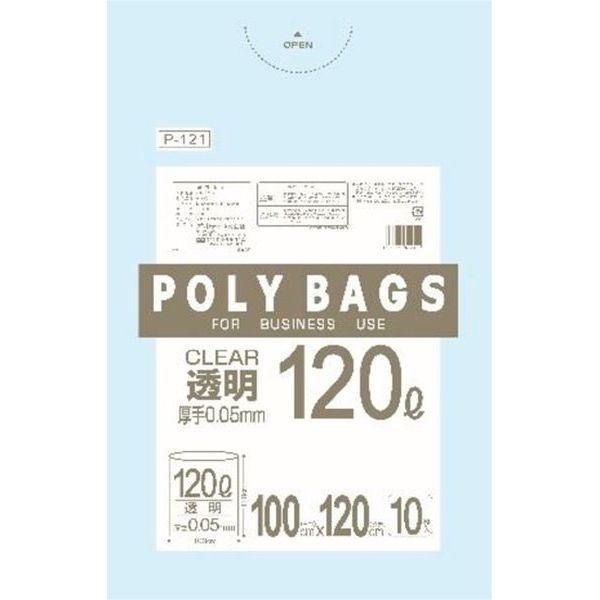 オルディ ポリバッグ ビジネス 透明 10枚入 P-121 (ポリ袋) 10個セット【沖縄・・・