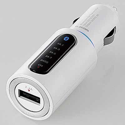 エレコム Bluetooth(R)トランスミッター LAT-FMBTB01WH ホワイ・・・