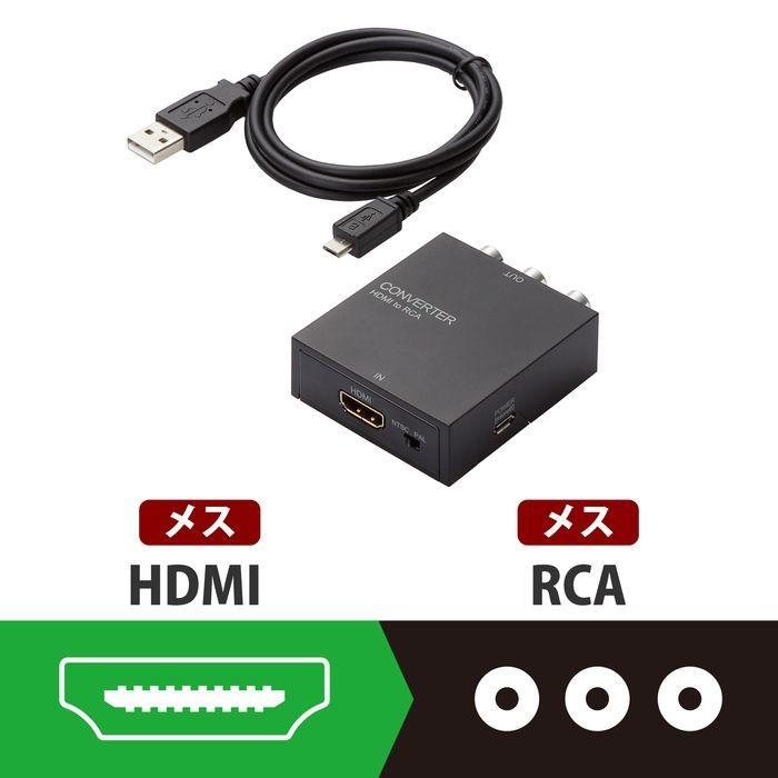 エレコム ダウンスキャンコンバーター/HDMI‐RCA/HDMI1.4 AD-HDCV02