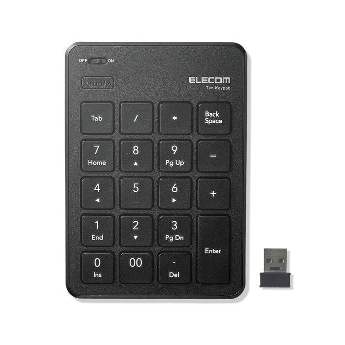 エレコム 無線テンキーパッド/パンタグラフ/薄型/ブラック TK-TDP019BK