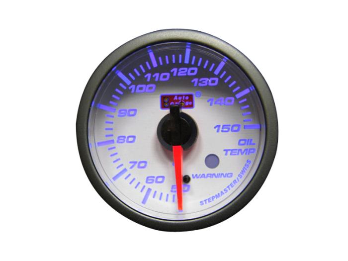 オートゲージ 油温計 自動車用メーター ag-ot60smw [ホワイトフェイスSMタイ・・・