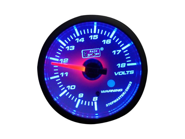 オートゲージ 電圧計 自動車用メーター ag-vo60smw [ホワイトフェイス SMタイ・・・