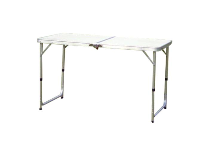 2つ折りたたみ式 レジャーテーブル / 折畳み アルミ テーブル アウトドア 屋・・・